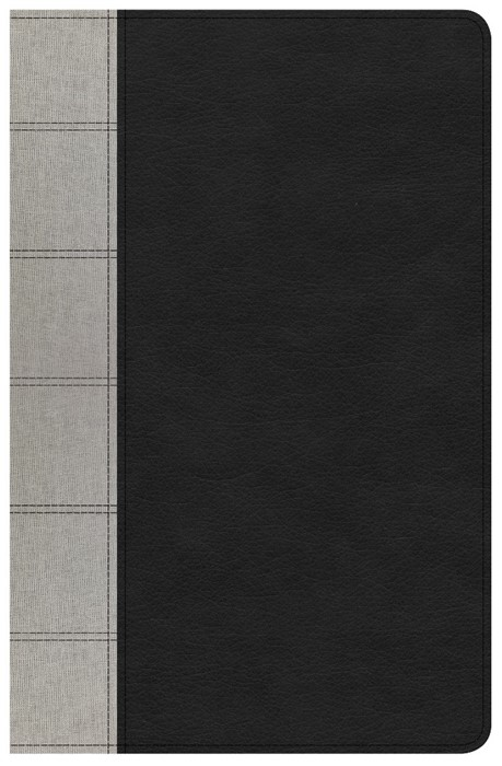 NKJV Large Print Personal Size Reference Bible, Black/Gray (Imitation Leather)