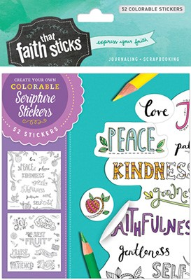 Galatians 5:22-23 Colorable Stickers (Stickers)