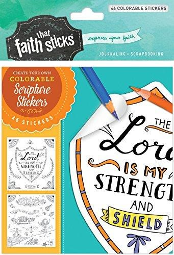 Psalm 28:7 Colorable Stickers (Stickers)