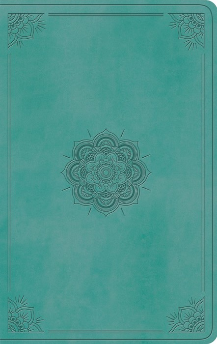 ESV Value Thinline Bible (TruTone, Turquoise, Emblem Design) (Leather Binding)