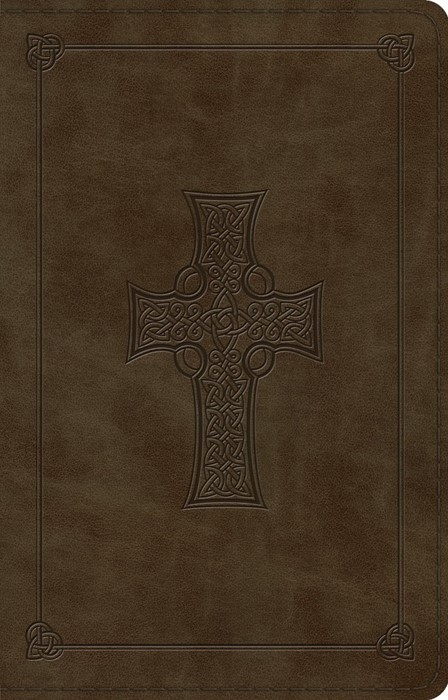 ESV Large Print Thinline Reference Bible (TruTone, Olive, Ce (Leather Binding)
