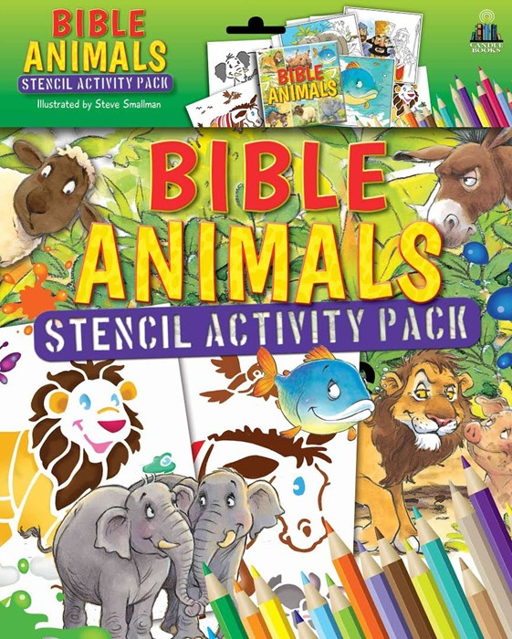 Bible Animals Stencil Activity Book (Mixed Media Product)