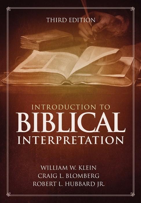 Introduction To Biblical Interpretation (Hard Cover)