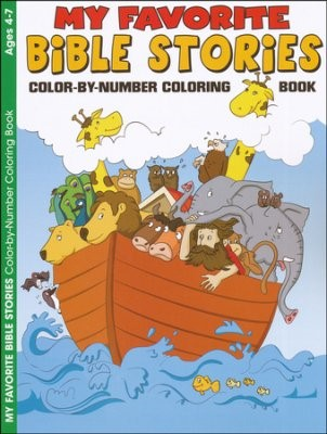 My Favourite Bible Stories Colour By Number Colouring Book