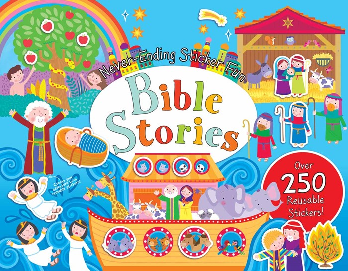 Never-Ending Sticker Fun: Bible Stories (Spiral Bound)