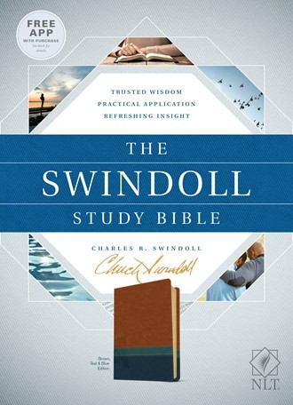 The NLT Swindoll Study Bible Brown/Teal/Blue (Imitation Leather)