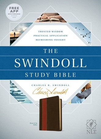 The NLT Swindoll Study Bible Brown/Tan (Imitation Leather)
