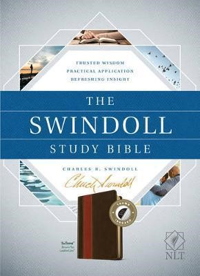 The NLT Swindoll Study Bible Brown/Tan, Indexed (Imitation Leather)