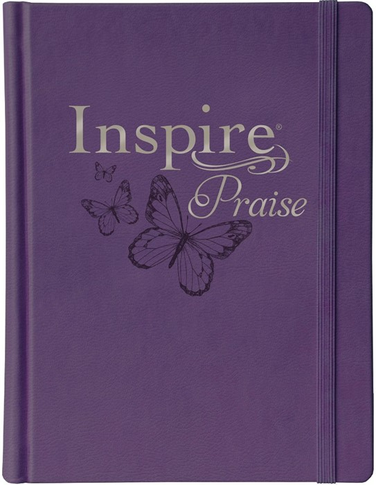 NLT Inspire PRAISE Bible, Purple (Hard Cover)