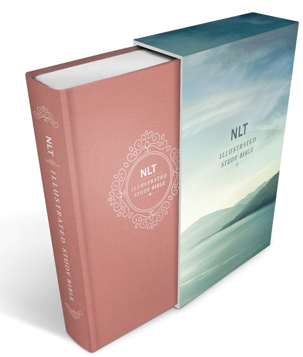 NLT Illustrated Study Bible, Deluxe Linen, Blush Rose (Hard Cover)