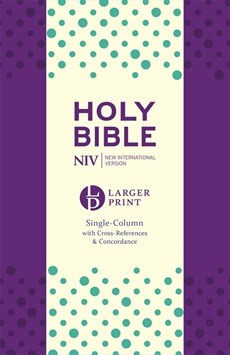 NIV Larger Print Compact Single Column Reference Purple (Imitation Leather)