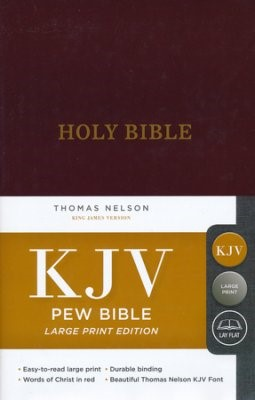 KJV: Pew Bible, Large Print, HB, Burgundy, Red Letter Ed. (Hard Cover)