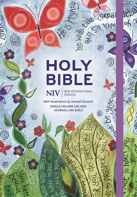 NIV Journalling Bible Illustrated by Hannah Dunnett (Hard Cover)