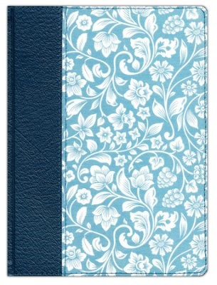 RVR 1960 Biblia de apuntes - Azul - Piel genuina y tela impr (Hard Cover)