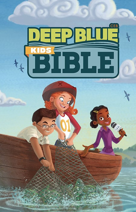 CEB Deep Blue Kids Bible Bright Sky Paperback (Paperback)