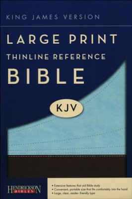 KJV Large Print Thinline Reference Bible, Chocolate/Blue (Flexisoft)