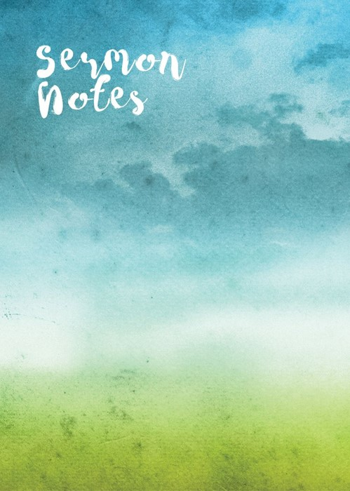 Sermon Notes: Watercolour Cover (Spiral Bound)