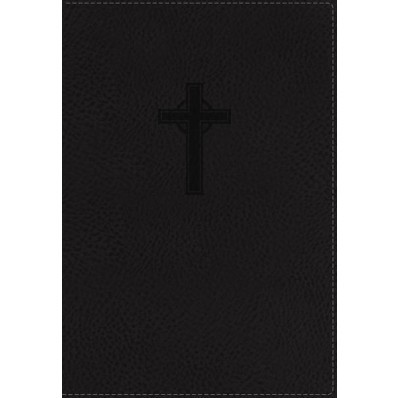 NKJV: Reference Bible, Compact, Large Print, Black, Index (Imitation Leather)