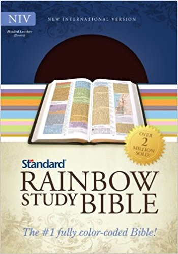 NIV Standard Rainbow Study Bible, Brown Bonded Leather (Bonded Leather)