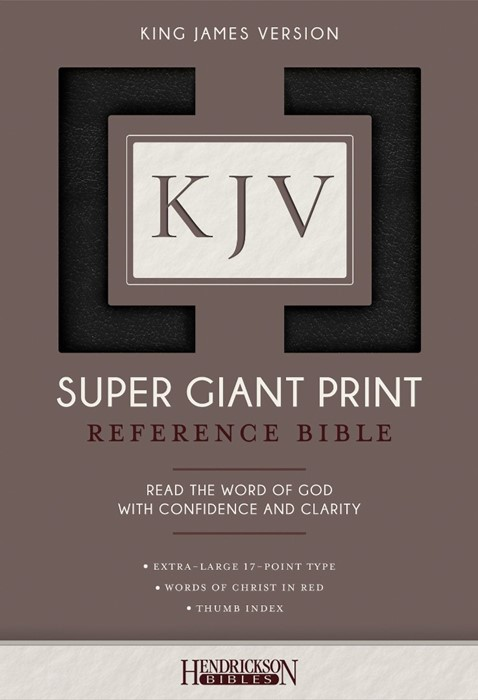KJV: Super Giant Print Reference Bible, Black, Indexed (Imitation Leather)