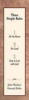 Three Simple Rules Bookmark (Pkg of 25) (Bookmark)