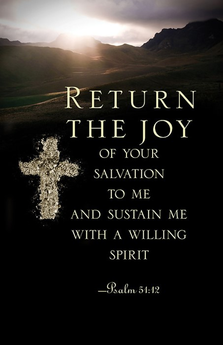 Return the Joy Ash Wednesday Bulletin (Pkg of 50) (Bulletin)