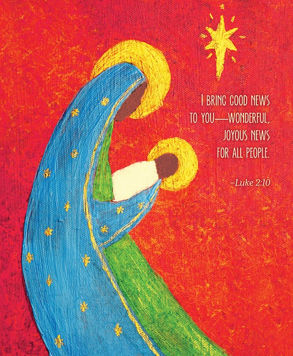 Good News Nativity Christmas Bulletin, Large (Pkg of 50) (Bulletin)