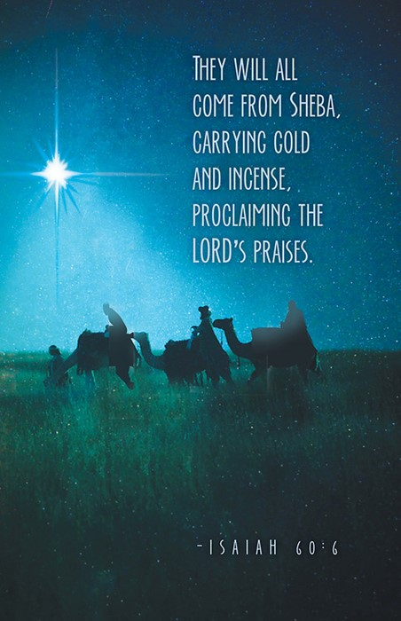 They Will All Come Epiphany Christmas Bulletin (Pkg of 50) (Bulletin)