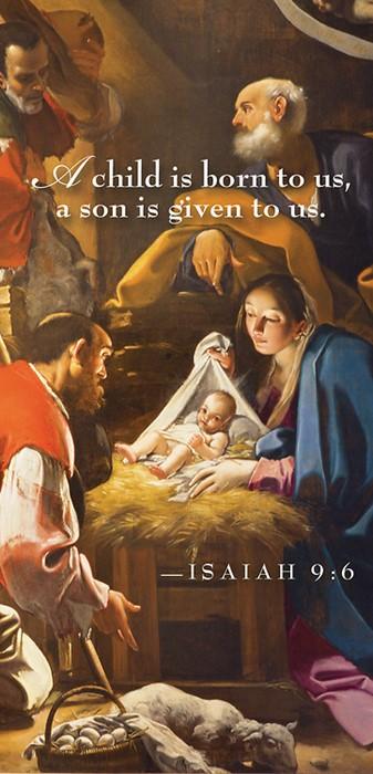 A Child Nativity Christmas Offering Envelope (Pkg of 50) (Bulletin)