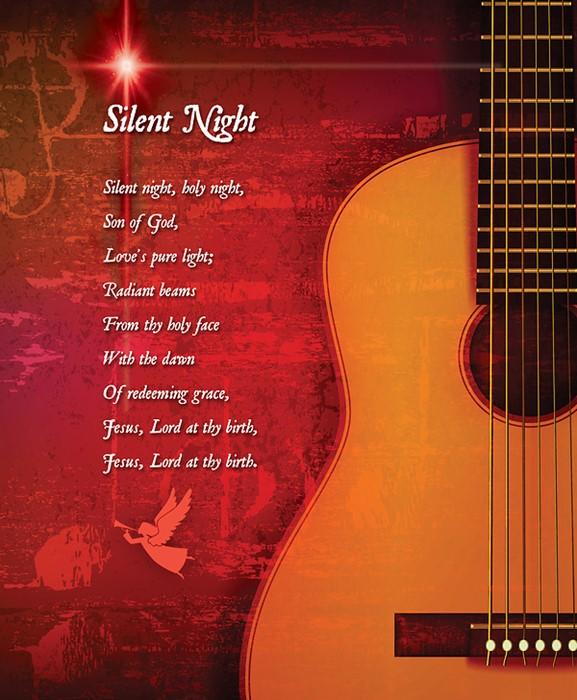 Silent Night Christmas Bulletin, Large (Pkg of 50) (Bulletin)