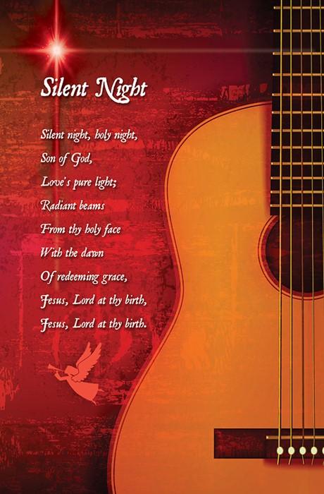 Silent Night Christmas Bulletin (Pkg of 50) (Bulletin)