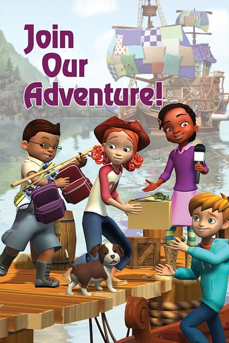 Deep Blue Kids Ship Join Our Adventure Postcard (Pkg of 25) (Postcard)