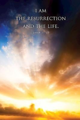 I Am the Resurrection Funeral Bulletin (Pkg of 50) (Bulletin)