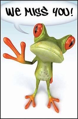 We Miss You! Frog Postcard (Pkg of 25) (Postcard)