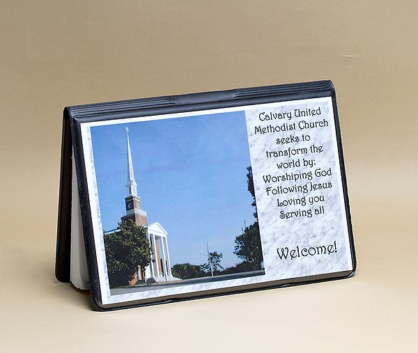 Attendance Registration Pad Holder with Front Cover Pocket - (Miscellaneous Print)