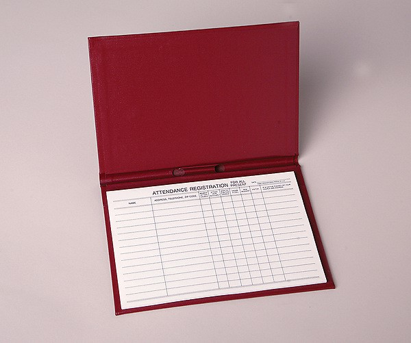 Attendance Registration Pad Holder - Red Cloth (Pkg of 3) (Miscellaneous Print)