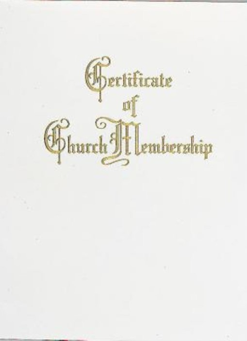 Traditional Steel-Engraved Church Membership Certificate (Pk (Miscellaneous Print)