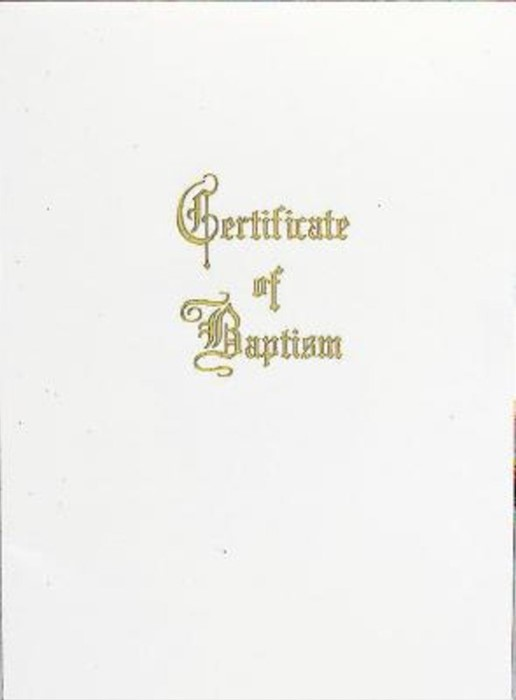 Traditional Steel-Engraved Adult/Youth Baptism Certificate ( (Miscellaneous Print)