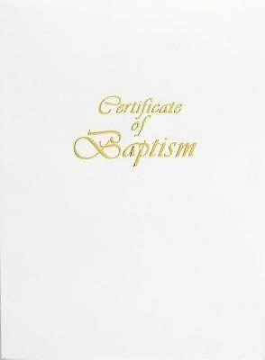 Contemporary Steel-Engraved Adult/Youth Baptism Certificate (Miscellaneous Print)