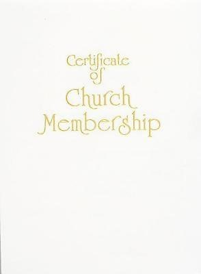 Contemporary Steel-Engraved Church Membership Certificate (P (Miscellaneous Print)