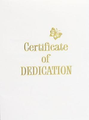 Contemporary Steel-Engraved Baby Dedication Certificate (Pkg (Miscellaneous Print)
