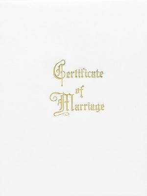Traditional Steel-Engraved Marriage Certificate (Pkg of 3) (Miscellaneous Print)
