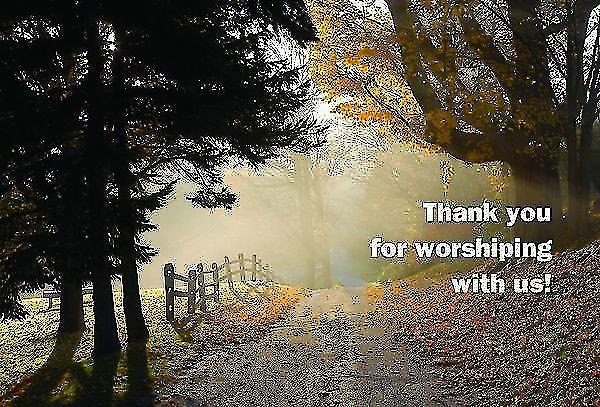 Thank You for Worshiping with Us! Postcard (Pkg of 25) (Postcard)