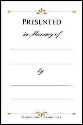 Presented in Memory of Bookplates (Pkg of 48) (Miscellaneous Print)