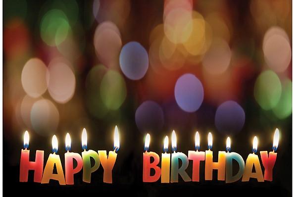 Happy Birthday Candles Postcard (Pkg of 25) (Postcard)