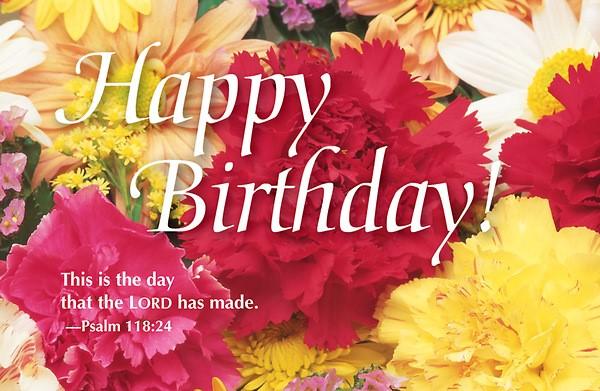 Happy Birthday Bouquet Postcard (Pkg of 25) (Postcard)