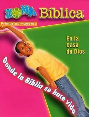 Zona Biblica En la Casa de Dios Older Elementary Leader's Gu (Postcard)