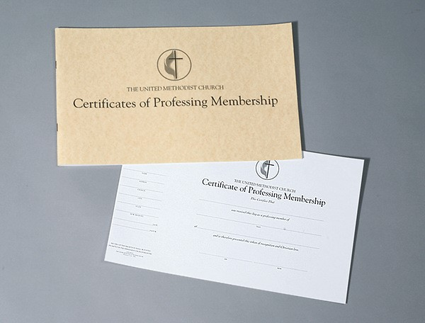The United Methodist Church Certificates of Professing Membe (Miscellaneous Print)