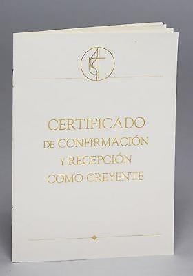 Metodista Unida Certificados de Confirmación y Recepción com (Certificate)