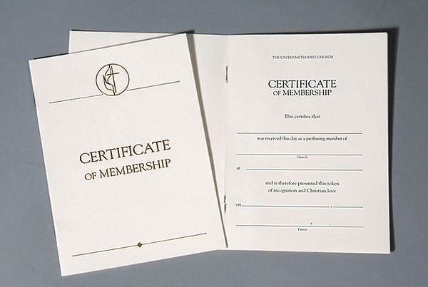 United Methodist Certificates of Membership Without Service